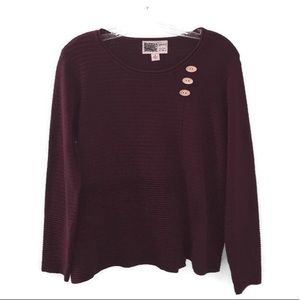 Habitat Deep Burgundy/Brown Scoop Neck Sweater